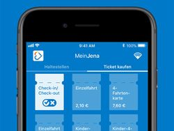 App MeinJena, Check-in / Check-out